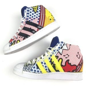 Adidas superstar Rita Ora hidden wedge sneakers